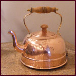 antique kettle