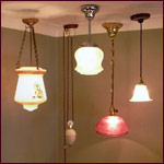 hanging antique lamps